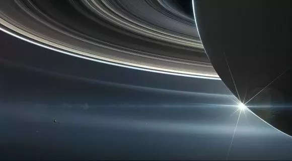 NASA's Cassini spacecraft in orbit around Saturn