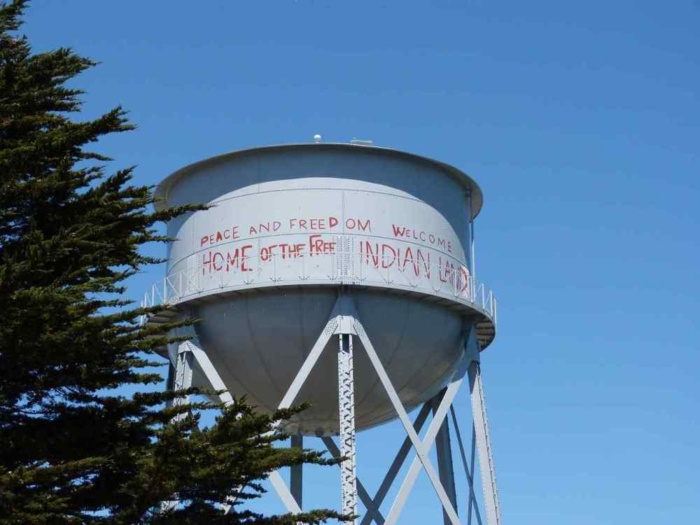 Alcatraz water tower, San Francisco, California