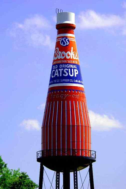 Creeks Catsup Bottle Water Tower, Collinsville, Illinois