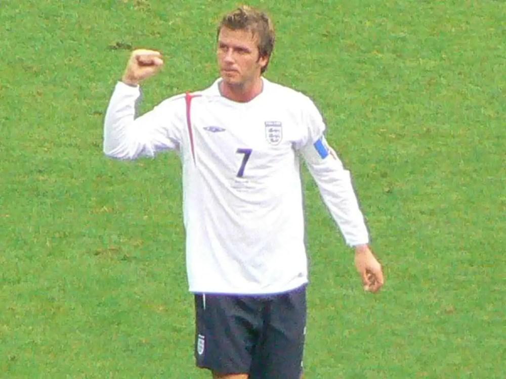David Beckham's legs