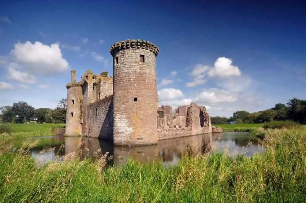 Caerlaverock Castle, southern coast of Scotland