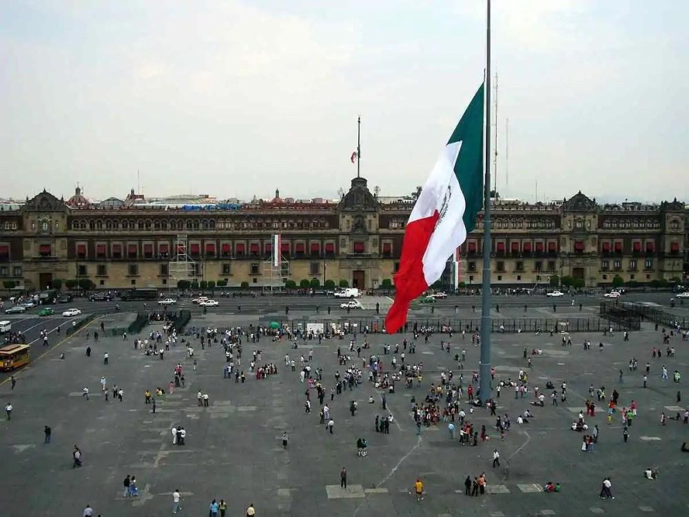 Zocalo (Plaza de la Constitucion), Mexico City, Mexico