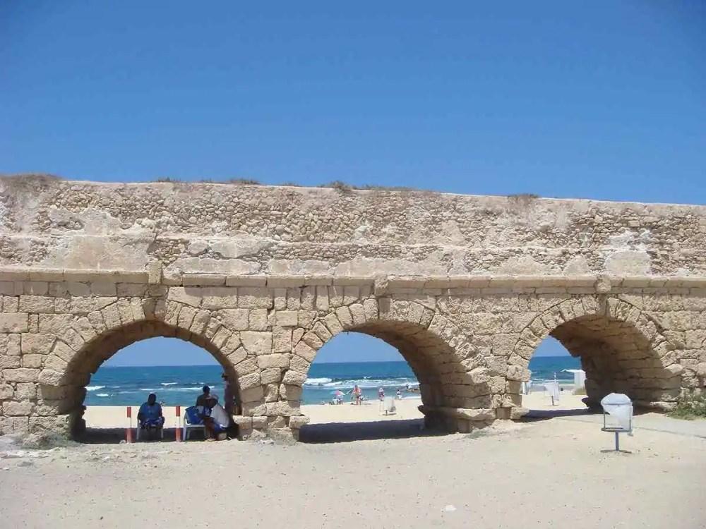 Caesarea Aqueduct, Caesarea, Israel
