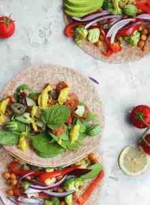 Vegan Tacos (low fat) and Mango Sauce