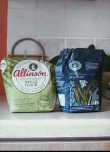 Rye flour and bread flour