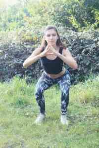 Squat exercise demonstration