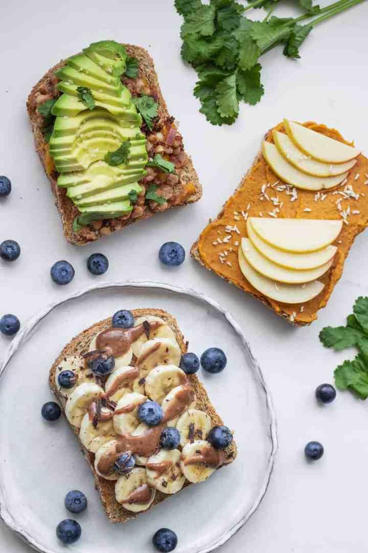 Healthy and easy vegan toast ideas