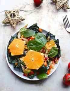 Festive vegan salad recipe