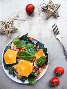 Vegan christmas salad recipe