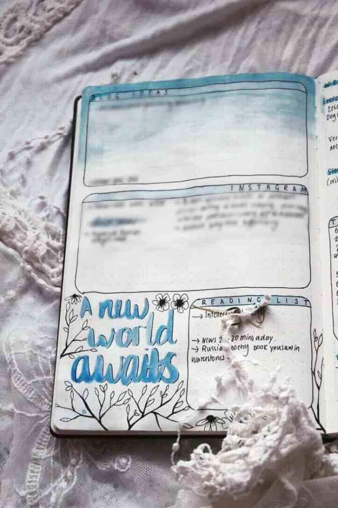 Bullet Journal Social media