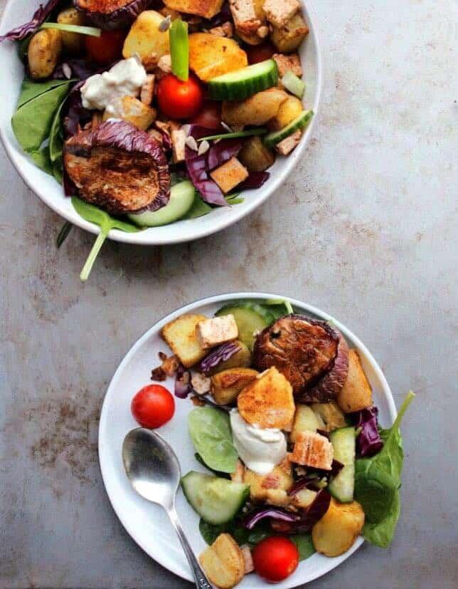 Winter potato salad vegan