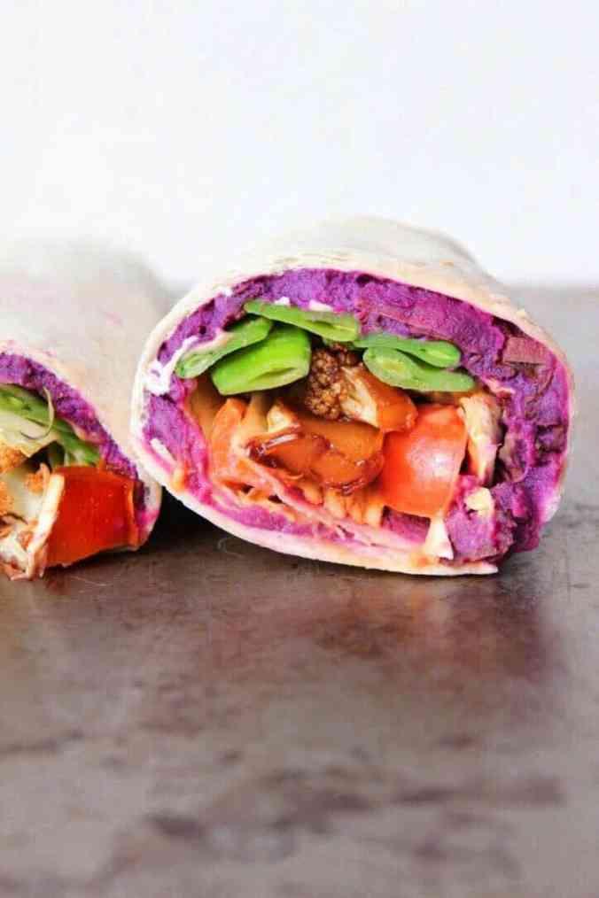 Potato vegan wrap recipe
