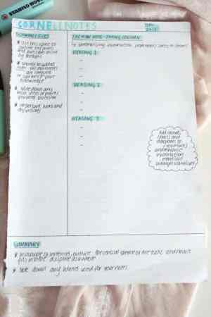Example of Cornell Note-taking Method - inaccordance