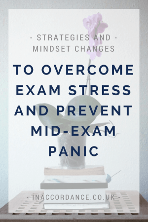 How to prevent exam stress and mid-exam panic - article from inaccordance