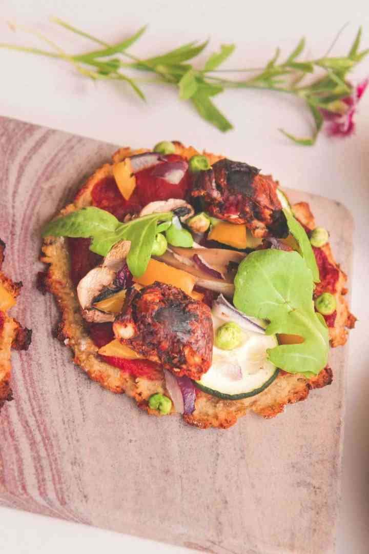 Vegan Pizza With Vegetables And A Sweet Potato Crust