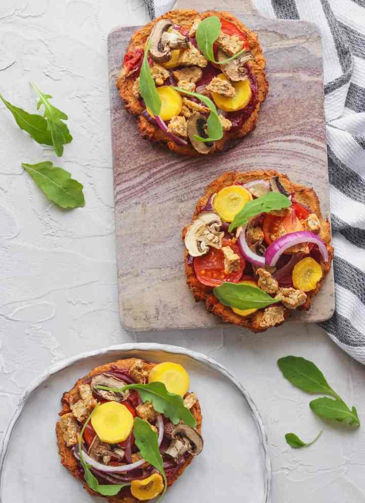 Mini Sweet Potato Pizza With Tempeh