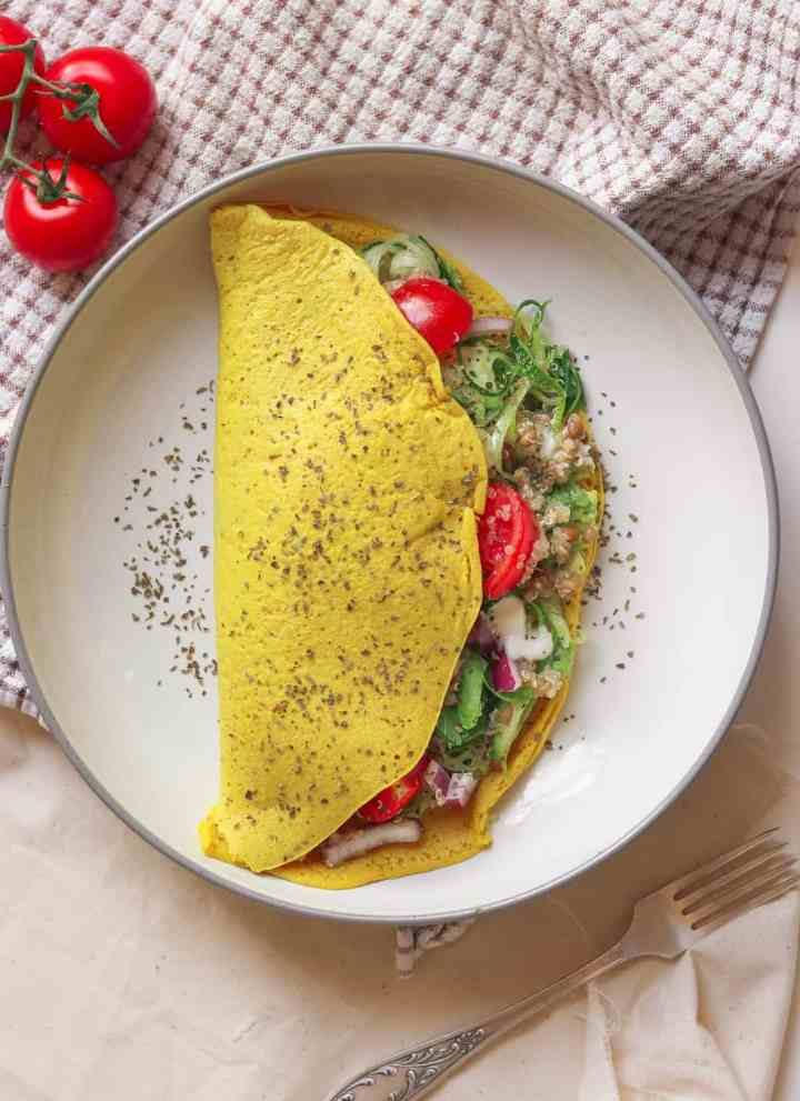 How To Make A Chickpea Omelette + Three Filling Ideas