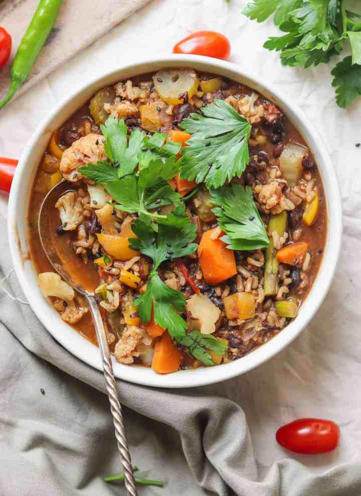 Easy Black Bean And Vegetable Rice Soup
