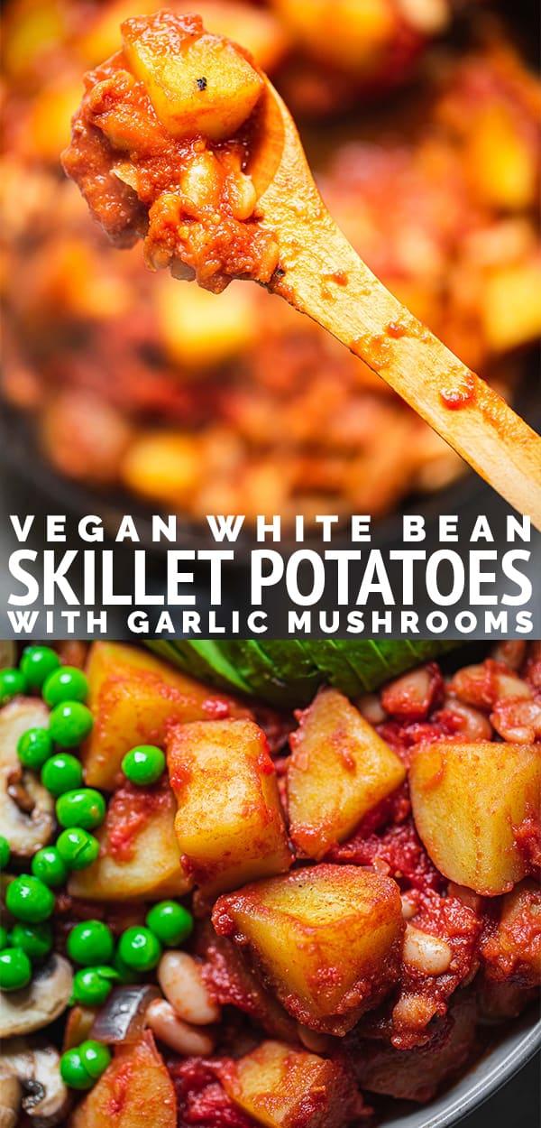 Vegan white bean skillet potatoes