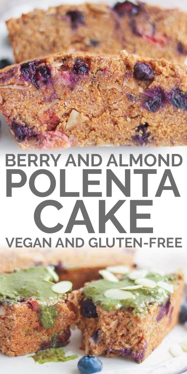berry almond polenta cake vegan gluten-free