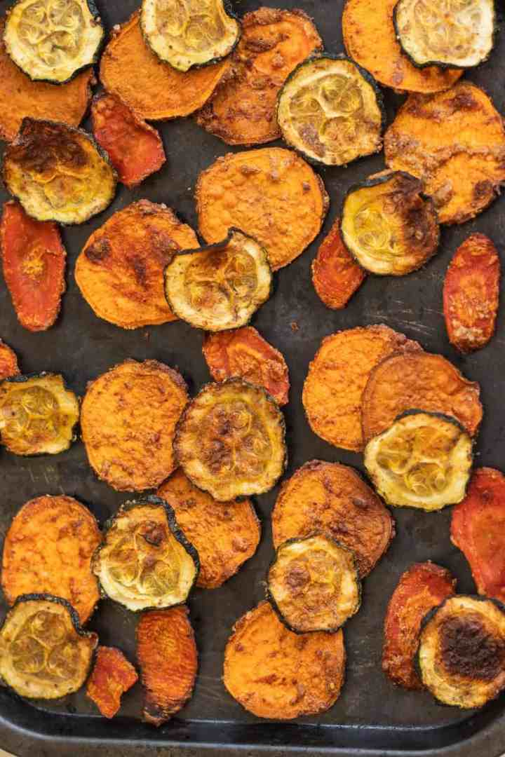 Almond butter veggie chips