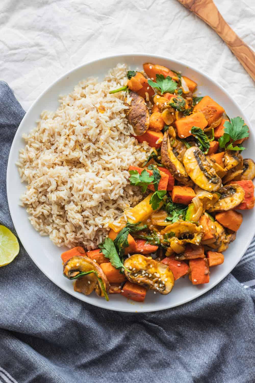 Easy Vegetable Pumpkin Stir-fry (Vegan and Gluten-free)