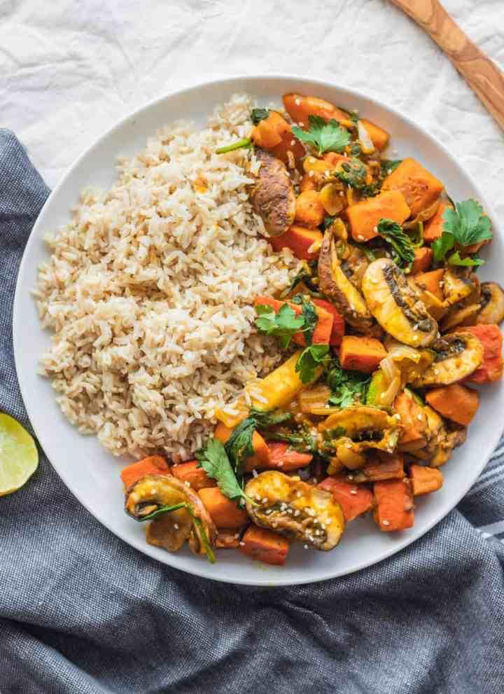 Easy Vegetable Pumpkin Stir-fry