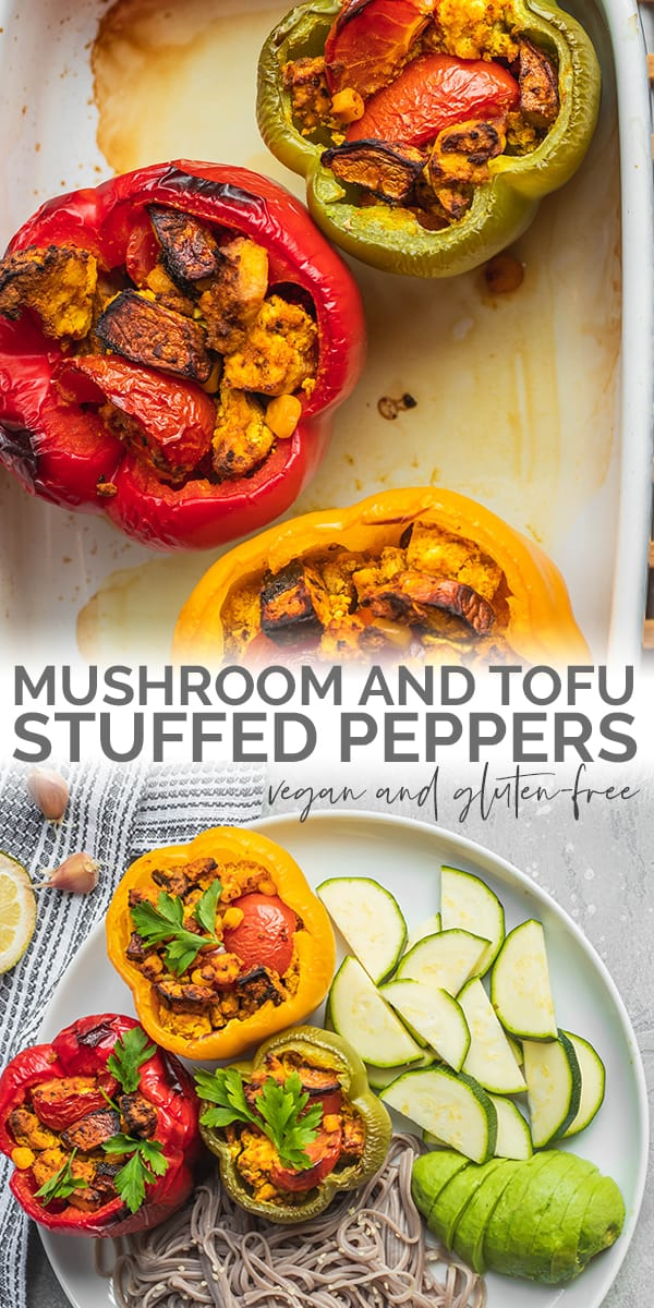 Mushroom and tofu stuffed peppers Pinterest