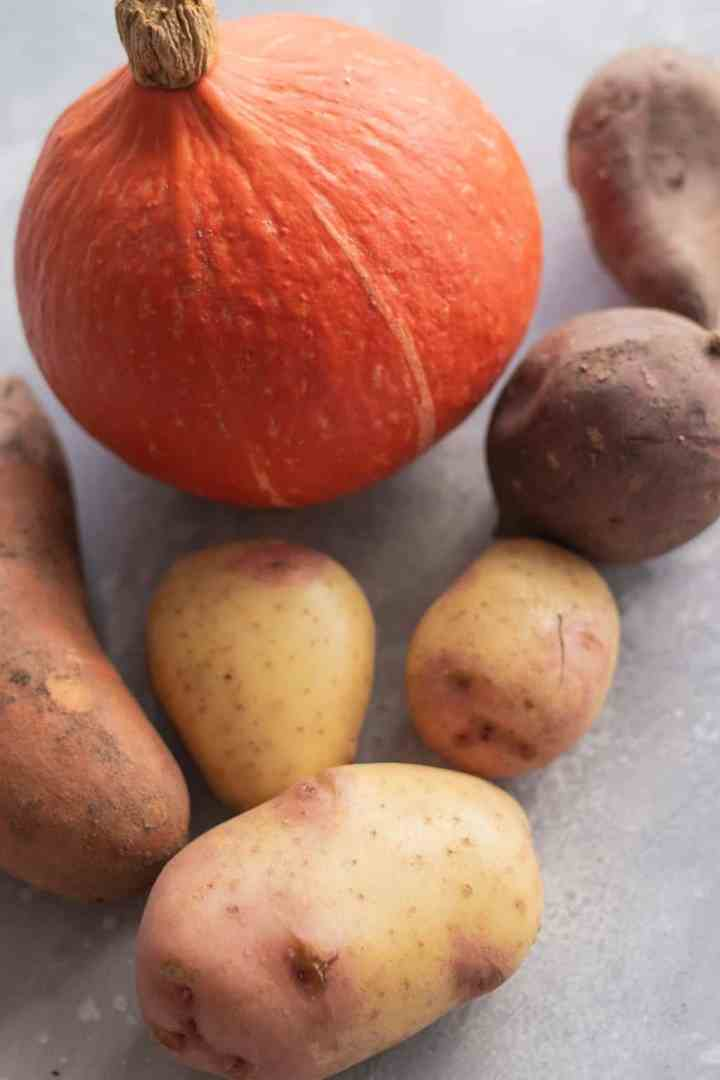 Root vegetables staples