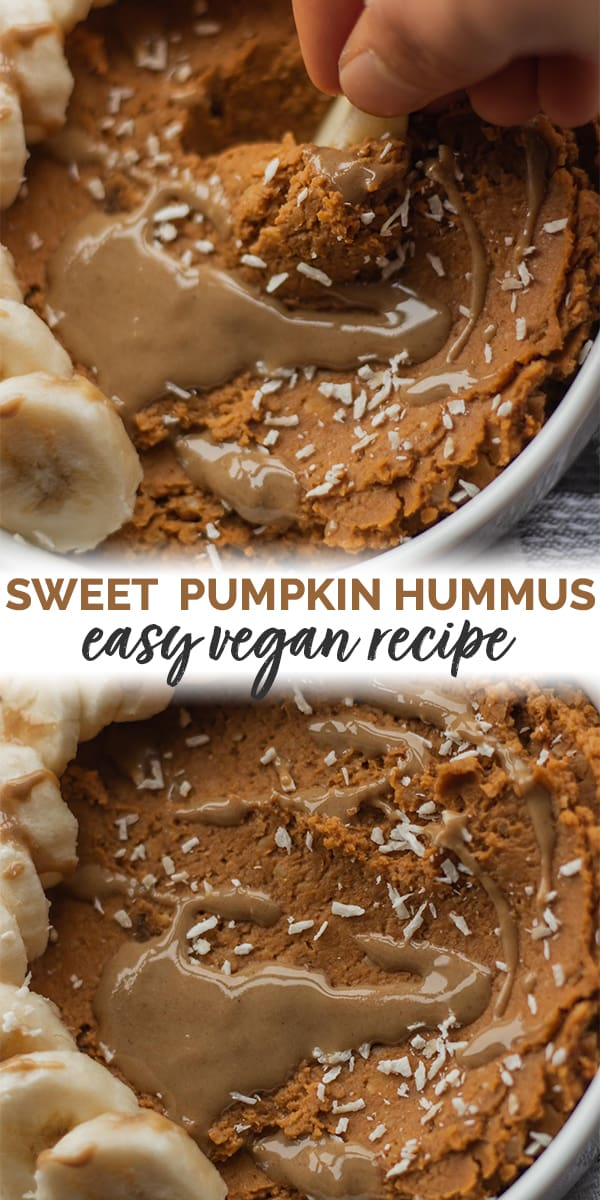 Sweet pumpkin hummus easy vegan recipe