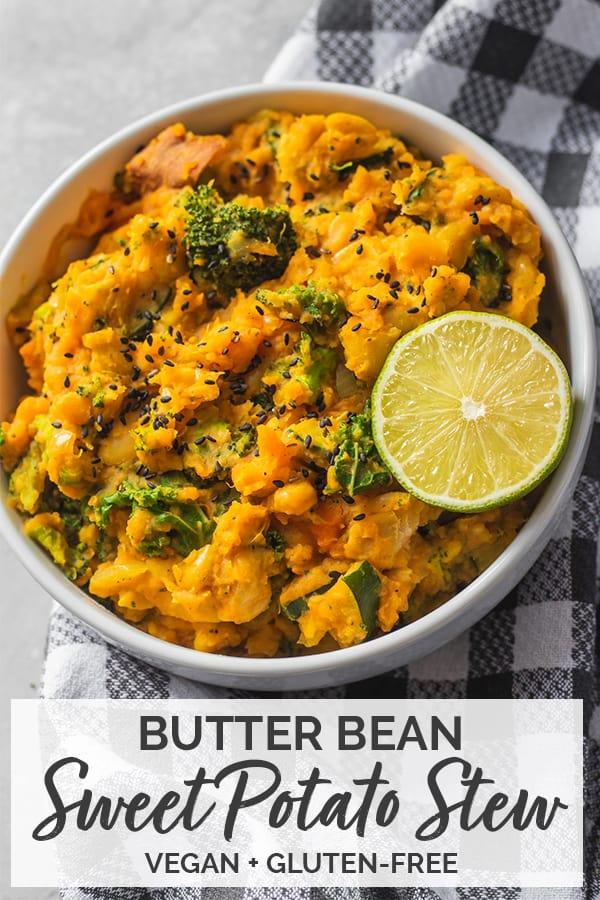Butter bean sweet potato stew