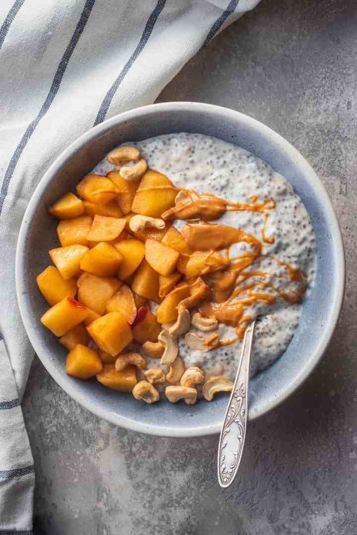 Apple Pie Coconut Chia Pudding