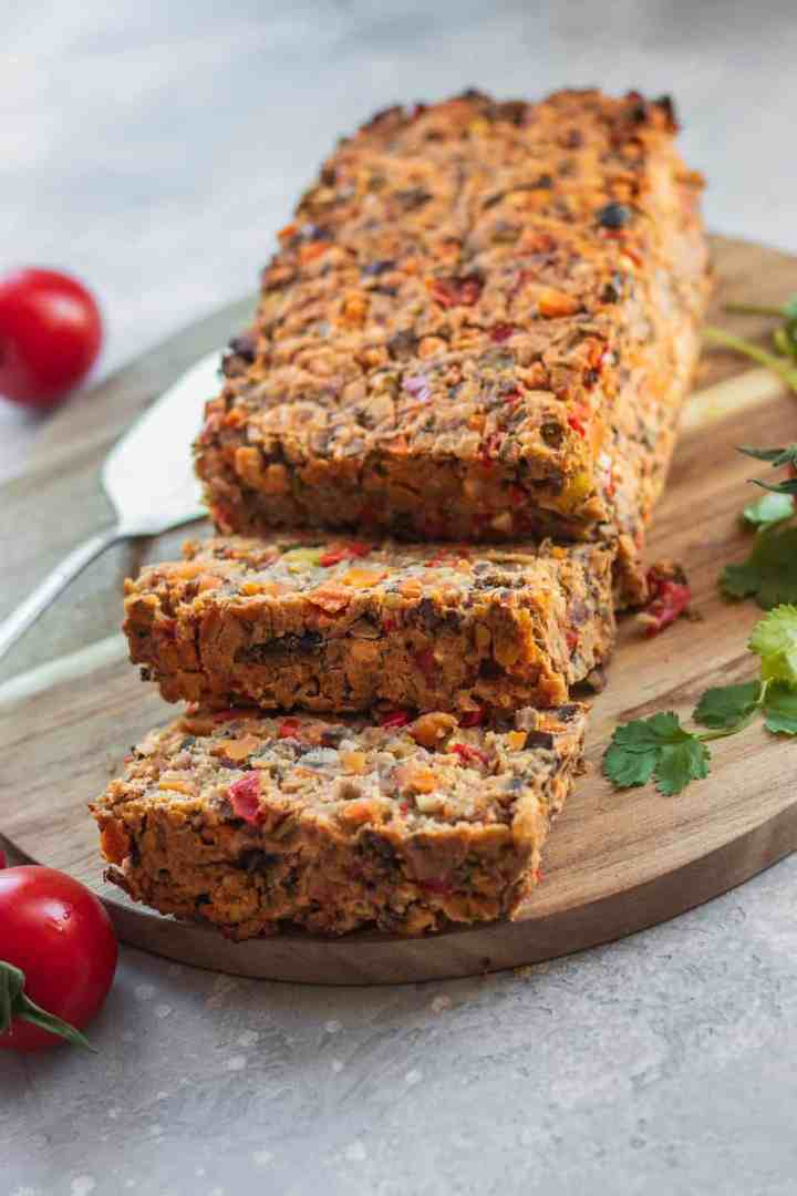 Easy vegan lentil loaf gluten-free oil-free