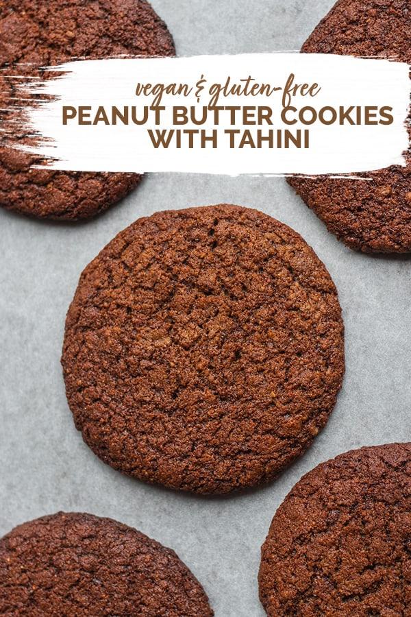 Vegan peanut butter cookies with tahini gluten-free Pinterest