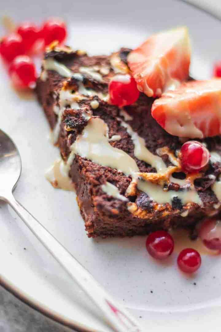 Vegan brownies with sweet potato