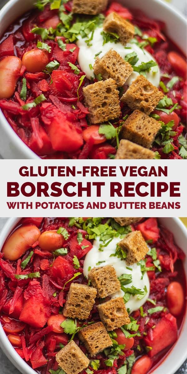 Gluten-free vegan borscht recipe