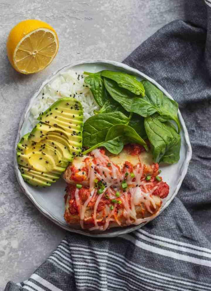 Vegan stuffed cabbage rolls gluten-free