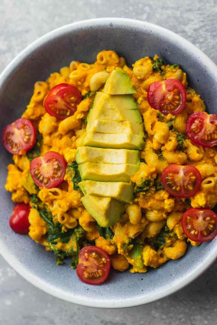 Vegan butternut squash mac and cheese with tofu