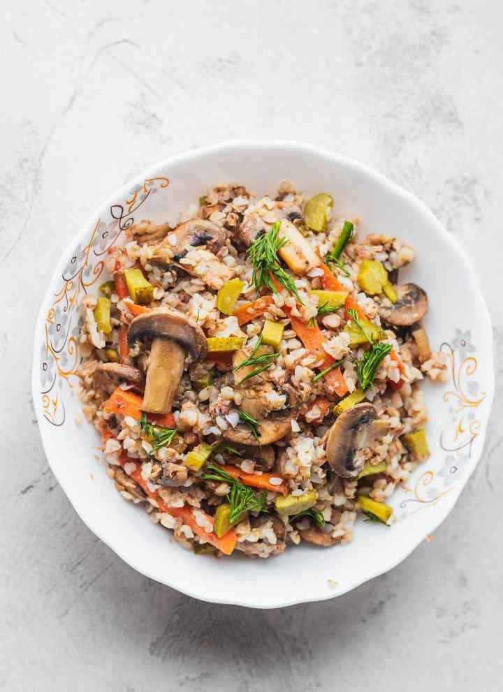 Mushroom Buckwheat Porridge Bowl