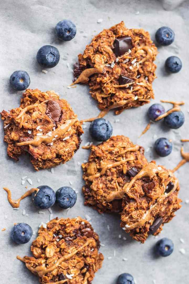 Vegan banana oatmeal cookies gluten-free