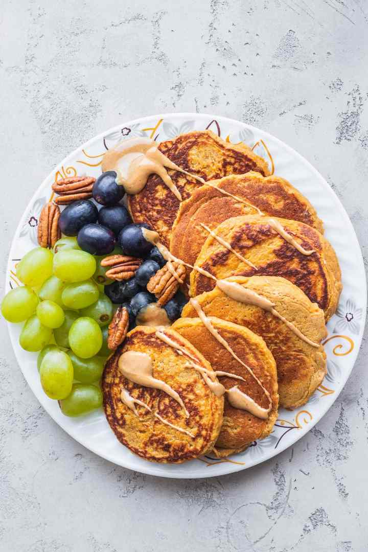 Vegan sweet potato pancakes gluten-free