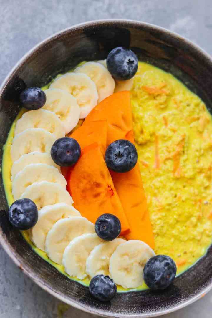 Bowl of orange oatmeal