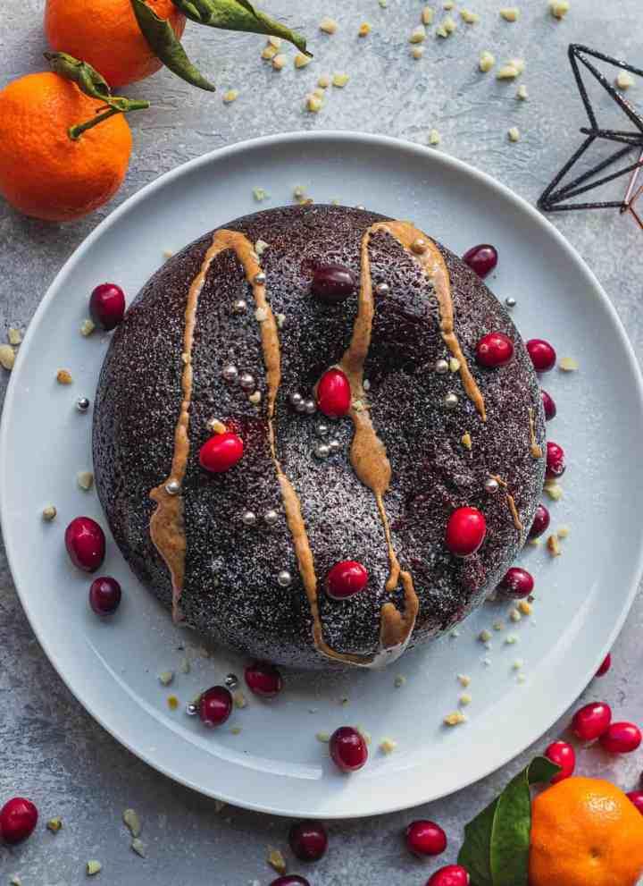 Gluten-free vegan Christmas pudding