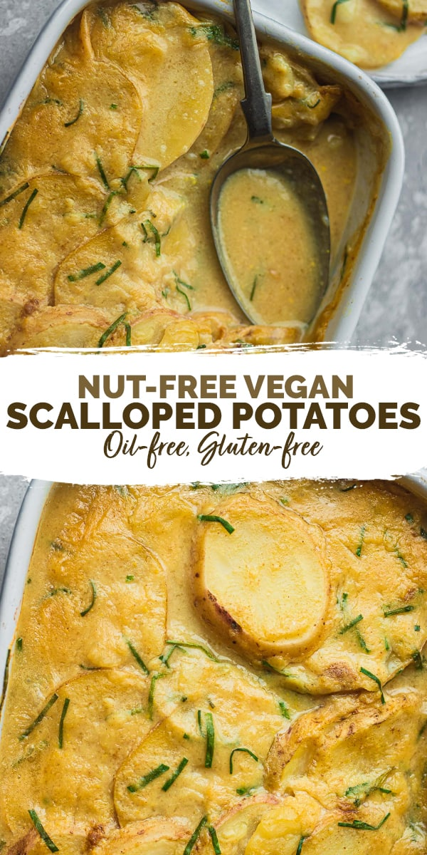 Vegan scalloped potatoes nut-free gluten-free oil-free