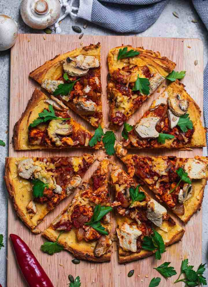 Meatless feast vegan pizza recipe gluten-free