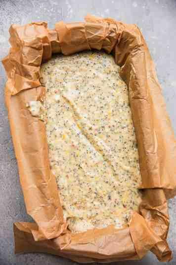 Lemon loaf before baking