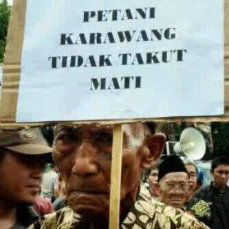 Peasants in Kerawang Suffered Eviction from Apparatuses in The Sake of Corporation