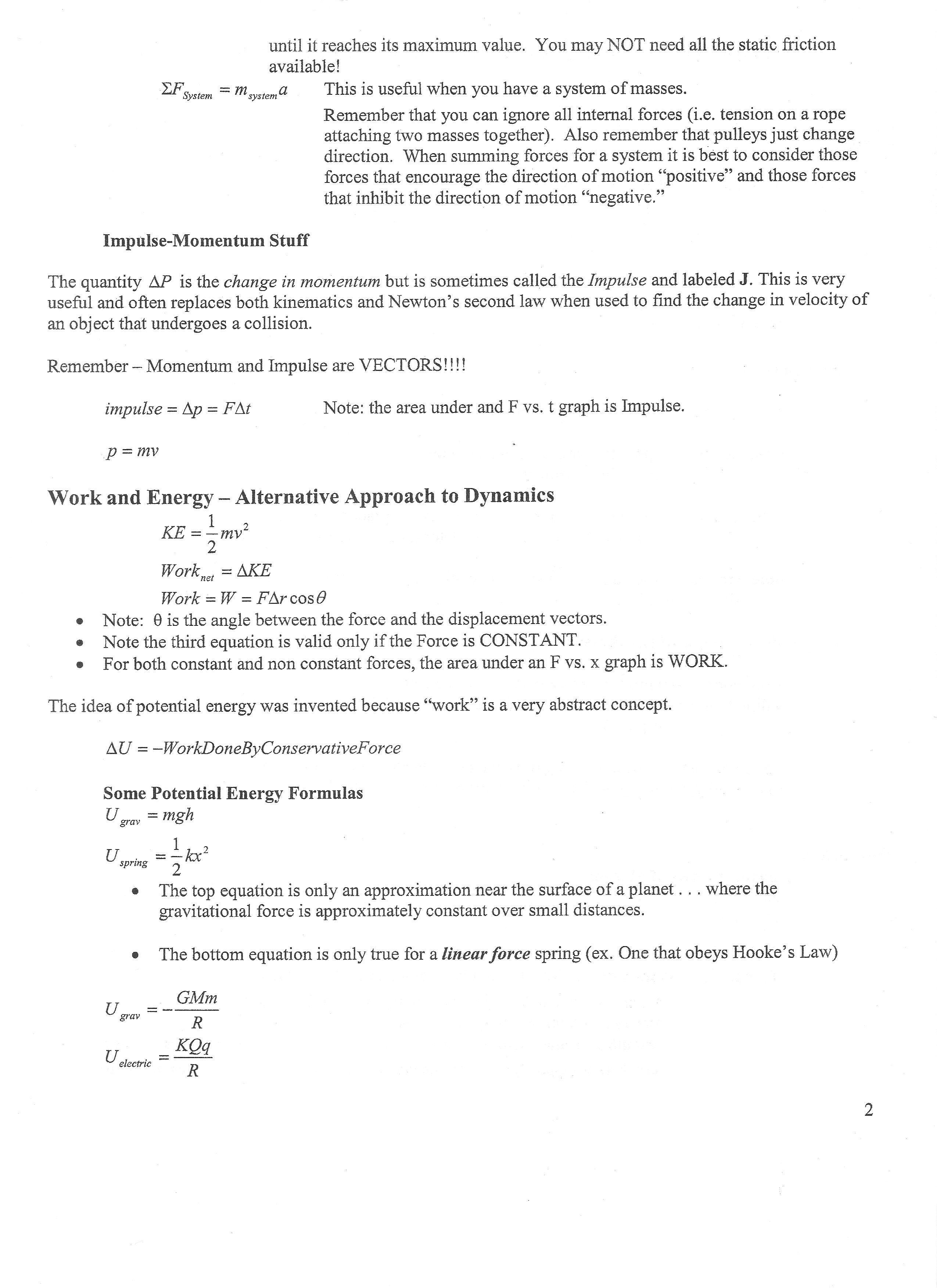 Mcat Physics Equations Quizlet