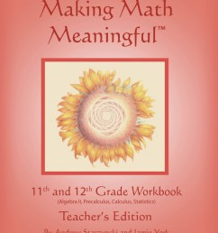 Making Math Meaningful: An 11th \u0026 12th Grade Workbook [ 1200 x 921 Pixel ]