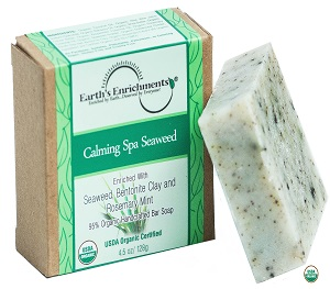Organic Soap Bar (USDA Certified) - Calming Spa Seaweed